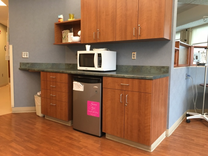 Chemo room-cabinets