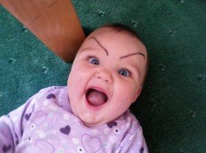 eyebrow baby